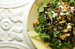 "Wild Rice ""Minnesoba"" with Arugula, Dried Cherry and Feta"