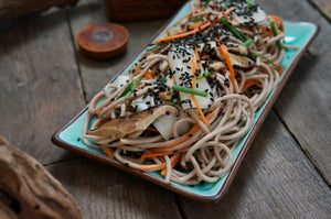 Light Soba Salad with Tsuyu and Asian Pickle