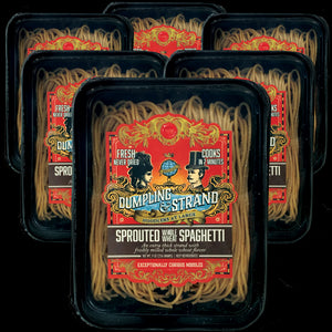 Case of Dumpling & Strand's freshly frozen Sprouted Whole Wheat Spaghetti Pasta