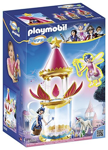 PLAYMOBIL Super 4 Musical Flower Tower with Twinkle Building Kit by PLAYMOBILÃ'Â