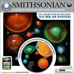 Amazing Smithsonian 3D Glow-in-the-Dark Solar System