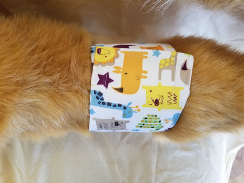 Waterproof Absorbent Belly Band for Dogs Fun Animal Print