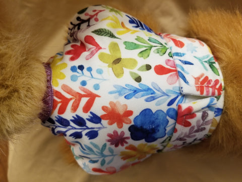 Waterproof Absorbent Dog Diaper Painted Flower Print Washable Reusable