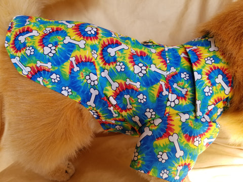 Tie Dye Dress Shirt for Dogs