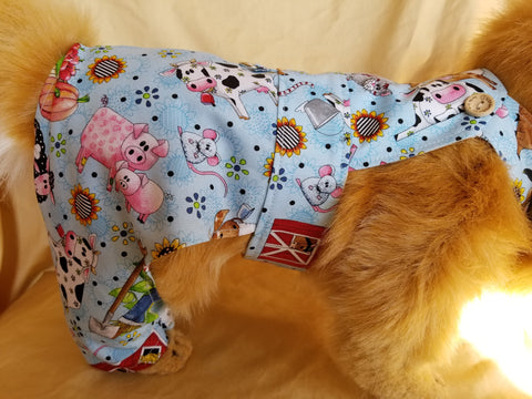Farm Print Overalls for Dogs