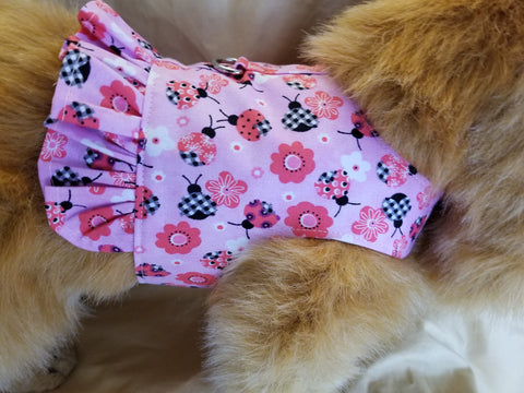 Little Ladybug Dog Harness with Ruffle