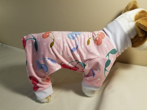 Cherries Jubilee Dog Pajamas / Onesie