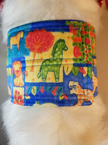 Party at the Zoo Reusable Belly Band for Dogs