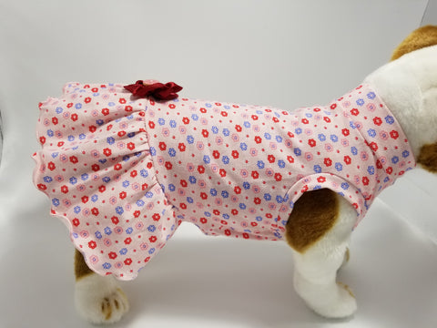 Pink Princess Floral Dog Dress