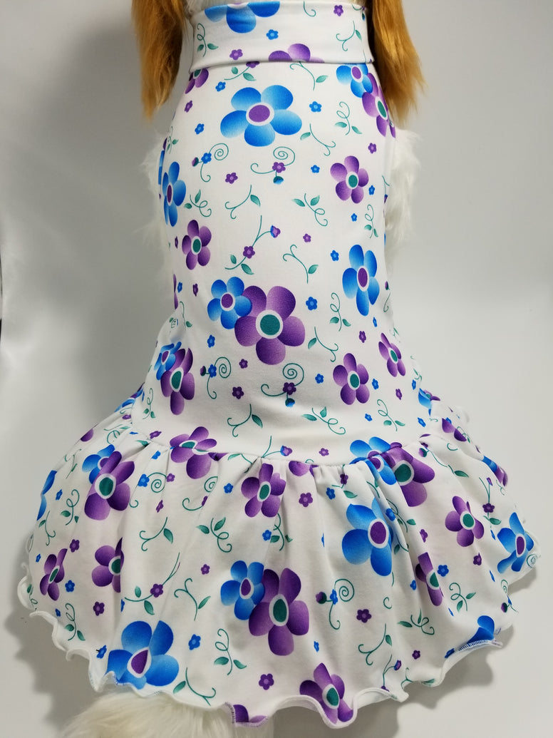 Purple Floral Dog Dress