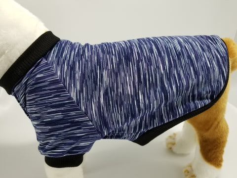 Purple Stripe Yoga / Athletic Knit Dog T Shirt