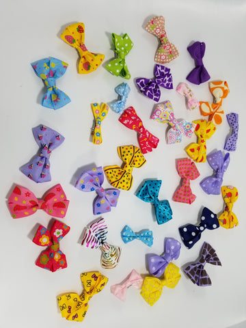 Pretty Ribbon Bows for Dogs Hair Accessories - Set of 2