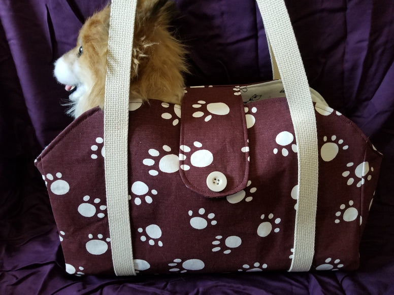 Dog Tote/Shoulder Bag Purse Style Carrier Paw Print