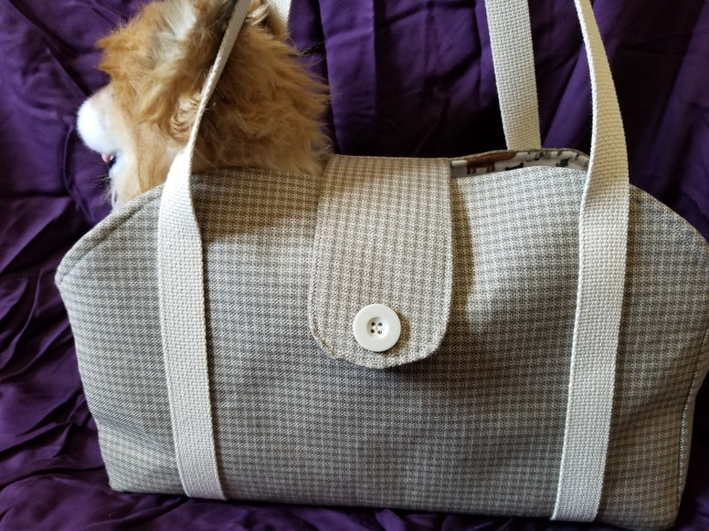 Dog Tote/Shoulder Bag Purse Style Carrier Beige