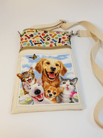 Funny Dogs Dog Walker Essentials Crossbody Bag Purse Chihuahua Bull Terrier Labrador