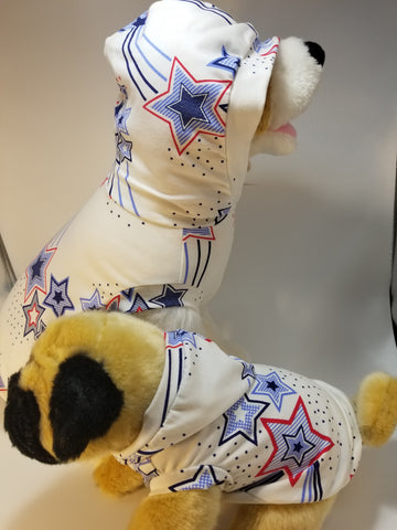 American Stars and Stripes Patriotic Dog Hoodie Tank Top Shirt