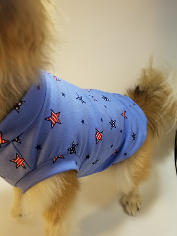 Stars and Stripes Patriotic Dog Tank Top Shirt