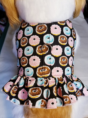 Sweet Donut Dog Harness with Ruffle