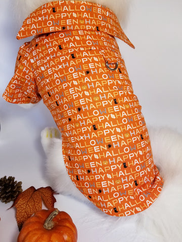 Happy Halloween Dress Shirt for Dogs