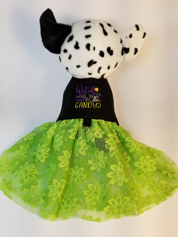 Halloween Embroidered Dog Dress