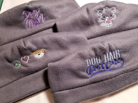 Embroidered Fleece Winter Hats for Dog Lovers