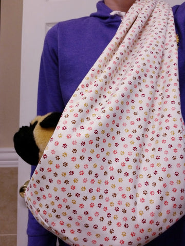 Pink Paws Reversible Sling Carrier