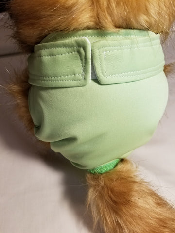 Pistachio / Lime Green Washable Reusable Dog Diaper