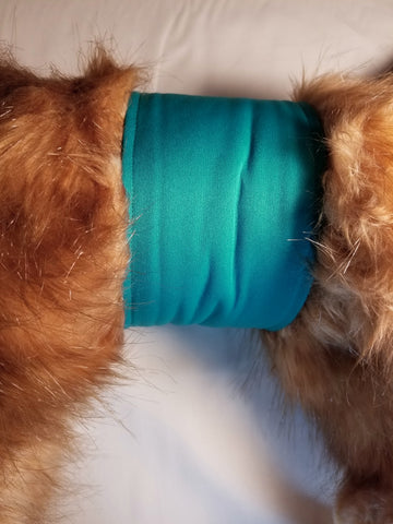 Teal Green / Turquoise Washable Reusable Belly Band for Dogs