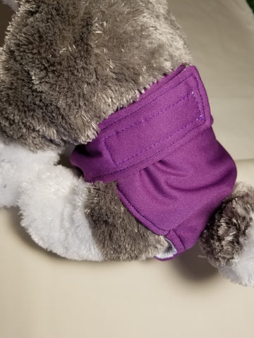 Purple Washable Reusable Dog Diaper