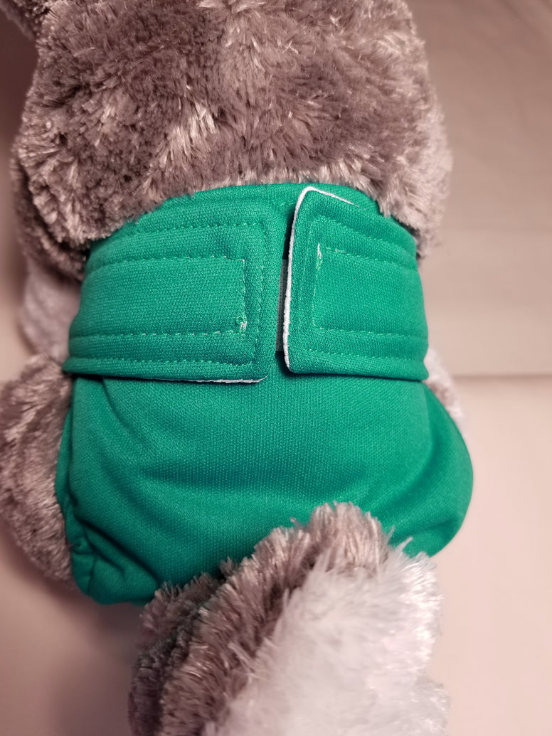 Teal / Turquoise Washable Reusable Dog Diaper
