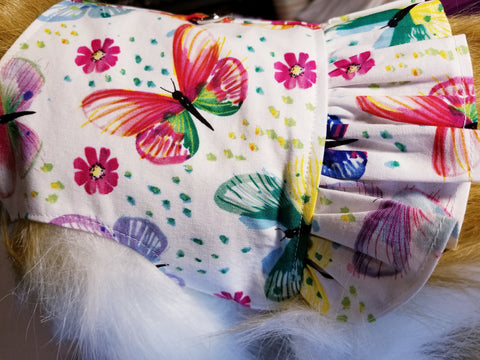 Beautiful Butterfly Dog Harness with Ruffle