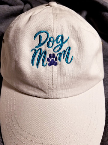 Dog Mom Embroidered Ball Cap Baseball Hat