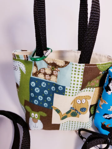 Mini Dog Treat Totes with Clip