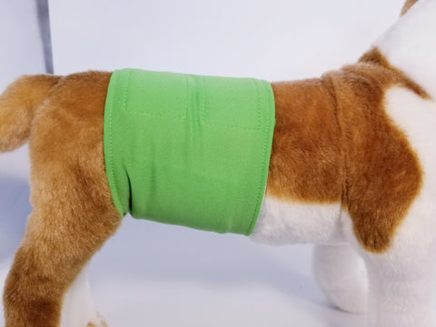 Spring Grass Green Washable Reusable Belly Band for Dogs
