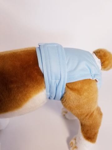 Baby Blue Washable Reusable Dog Diaper