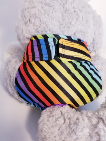 Rainbow Stripe Washable Reusable Dog Diaper