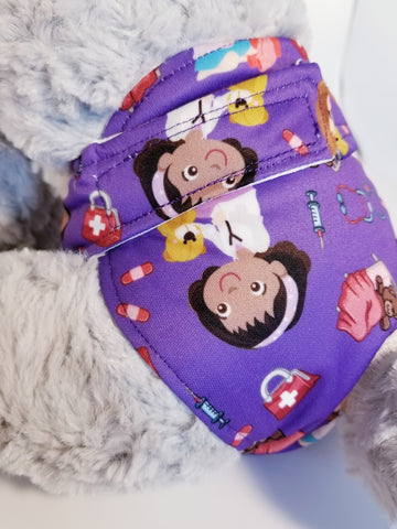 Purple Vet Theme Washable Reusable Dog Diaper
