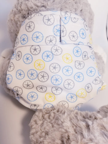 Pastel Sand Dollar Washable Reusable Dog Diaper