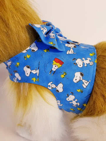 Snoopy & Woodstock Peanuts Dog Harness with Bow Tie