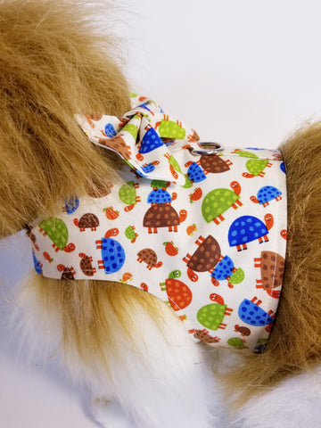 Cute Turtle Dog Harness with Bow Tie