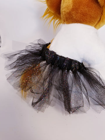 Black Swan Ballet Dog Tutu Glitter Sparkle Skirt