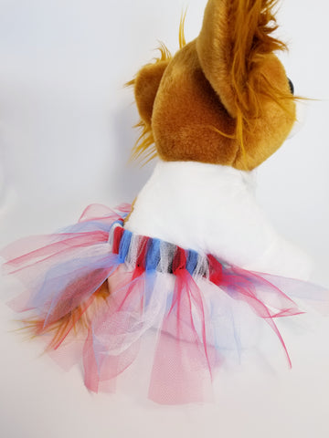 Red White and Blue USA Ballet Patriotic Dog Tutu Skirt