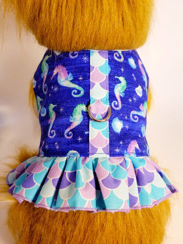 Mermaid Seahorse Sparkle Harness with Ruffle
