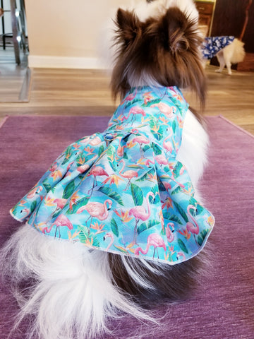 Pink Flamingo Dog or Cat Summer Dress