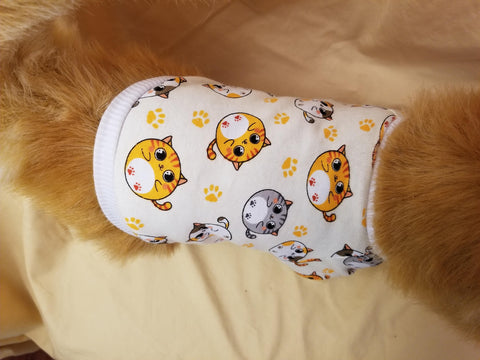 Cat print dog t-shirt
