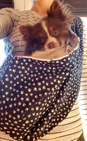 Pink Poodle Reversible Sling Carrier for Dogs