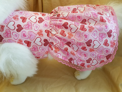 Bling Bling Sparkle Hearts Dog or Cat Dress