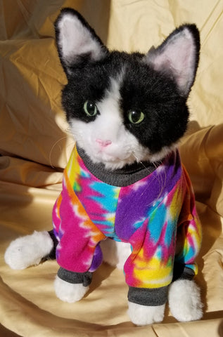 Fleece Dog or Cat Pajamas Tie Dye