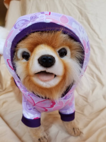 Purple Butterfly Dog Hoodie