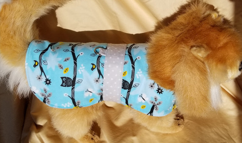 Owl Print Dog Coat